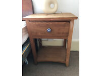 Solid oak, nice little bedside tables. Well made. Sold as pair or separately