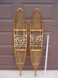 SNOCRAFT WOODEN SNOWSHOES, EXTRA LONG