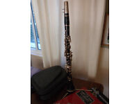Student clarinet (Trevor James) in bag + many extras. Very good condition.