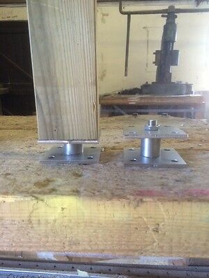 Stainless Timber Fence Post Shoe Post Support 50mm High for 200mm Square Post