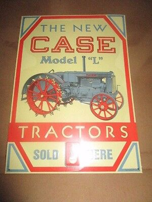 Case Model L Tractor Sign Metal Tin Collector Farm Advertising Usa