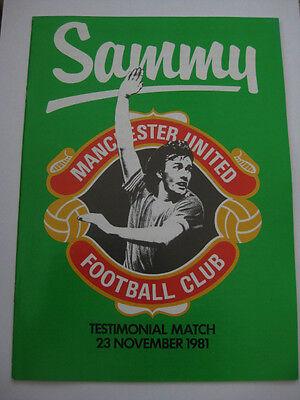 Sammy McIlroy Testimonial Match 1981 Programme Manchester United