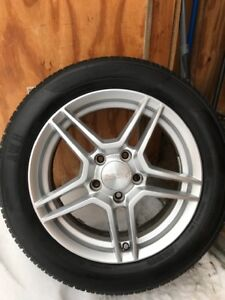 All Season tires and aluminum wheels