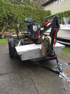 Towable excavator and trailer