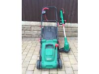 Qualcast Electric Lawn Mower ans Strimmer.