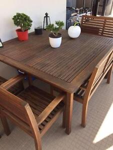 150cm square outdoor 8 seat dining table and chairs Darlinghurst Inner Sydney Preview