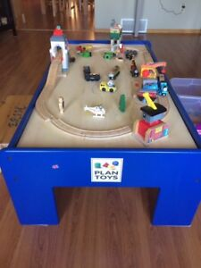Train/toy activity table