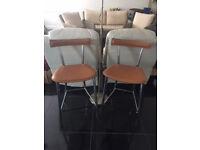 Leather Bar/Kitchen Stools