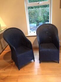 Conservatory Chairs. Split cane. Genuine 1930's.