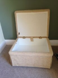 Footstool, convenient seat with in built storage