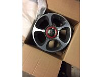 "full set of used 17"" alloy wheels just take off my abarth in good conditions"
