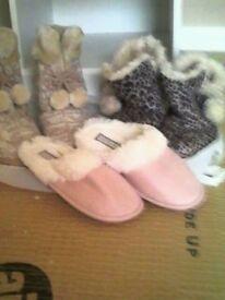 Slippers x 3 pairs