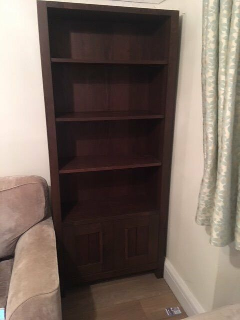 Sonoma Dark Wood Bookshelf