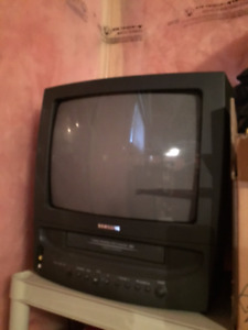 13 inch tv with video VHS PLAYER