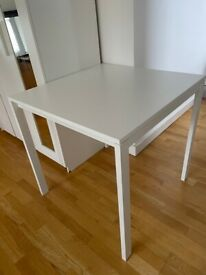 white dining table 75x75 cm