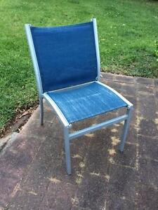 Wanted: chairs for outdoor setting - Freedom Furniture, blue Chatswood Willoughby Area Preview
