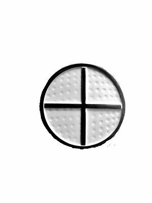 "MAGNETIC GOLF BALL MARKER AND HAT CLIP  ""NEW"" White with silver cross."