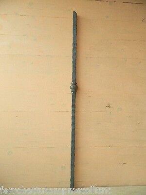 caposaldo in ferro battuto lavorato piantone scala fai da te fabbro LK.162.PO