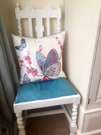Vintage white painted occasional chair
