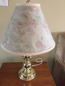 23 Inch Green Shade Table Lamp
