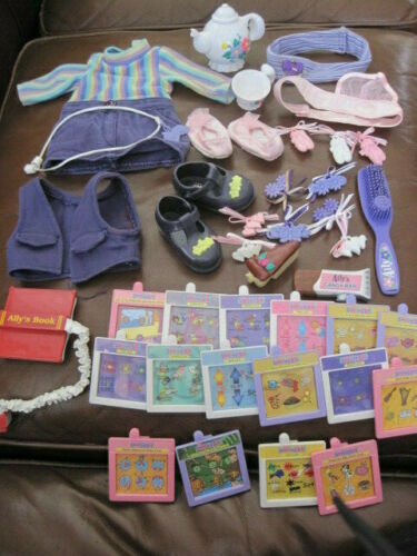AMAZING ALLY INTERACTIVE DOLL ACCESSORIES LOT