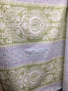 P KAUFMANN GREEN BLUE DESIGNER COTTON LINEN FABRIC (54 in.) Sold BTY