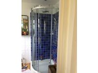 Brand new and boxed glass shower enclosure
