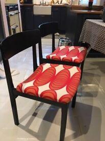 Set of Four (4) Retro Vintage Dining Chairs G-Plan Style/era