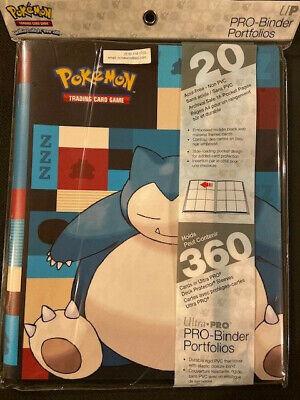 NEW Ultra  Pro  Pokemon Card SNORLAX PRO(PRO) Album Binder Portfolio(PRO ALBUM)