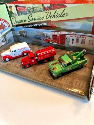 Texaco Service Vehicles Set of 3 1:64 Scales Die-Cast Models #6