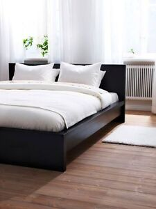 Black Queen Malm bed