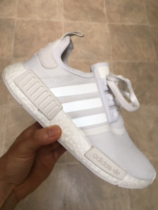 """NMD R1 """"Triple White"""" 3M Size - 8  *WORN ONCE*"""
