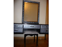 Stag dressing table /Mirror with lights/Stool