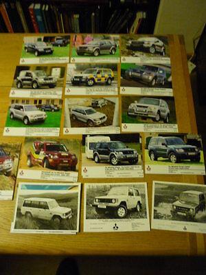 MITSUBISHI SHOGUN COLLECTION OF 25 PRESS PHOTOS, 80's 90's Brochure Related jm