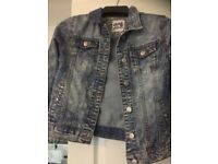 Girls stonewash denim jacket size 11-12 years