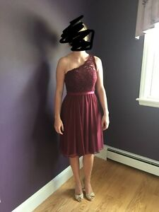 David's Bridal bridesmaid dress - size 4 - wine colour