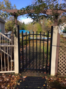 Black Coated Aluminum Gate for sale -Brand New in the Box - $150