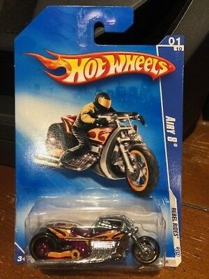 2009 Hot Wheels Rebel Rides Airy 8 #137 Purple