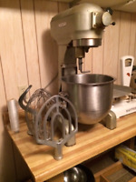 Hobart Food Mixer, Doulbe Rack, Food scale, Pans and Deep frier