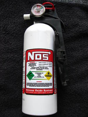 NEW Fire Extinguisher Looks Like NOS NITROUS BOTTLE DECAL Hot Rat Rod Car Show