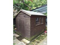 Apex Garden Shed 6ft by 8ft with new roof felt