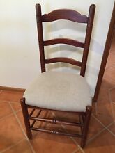 Ladder back, upholstered dining chairs Avoca Beach Gosford Area Preview