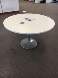 office furniture 1.2 meter white round meeting table