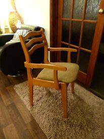 Vintage Danish Teak Set of Six Dining Chairs 70's / 80's