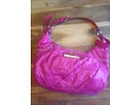 Ladies Cerise Pink Soft Luxury Leather Designer GUESS Handbag