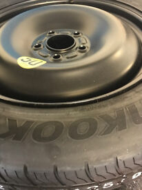 """5 stud Hankook Ford spare tyre 125/90 R16 with steel rim - new! Ford Focus 16"""" 17"""""""