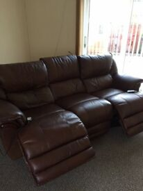 Leather Electric Recliner Sofa - Excellent Condition
