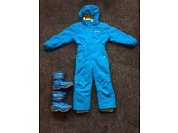 Kids Ski Suit - Mountain Warehouse - Age 5/6 All in one with boot skirts and pockets