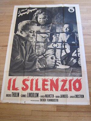 SILENCE Ingmar Bergman Ingrid Thulin Original 1964  Italian large Movie poster