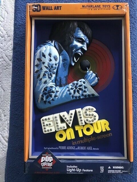 Elvis Presley On Tour 3D Wall Art Light Up McFarlane Pop Culture Rock N' Roll